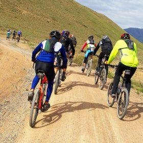 Mountain bikers group